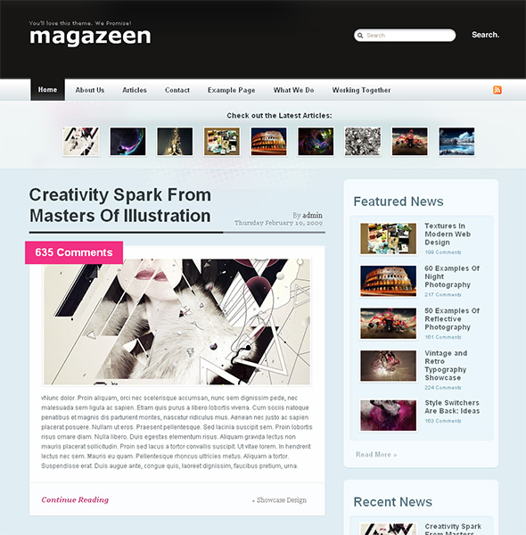 Magazeen Free WordPress Magazine Theme