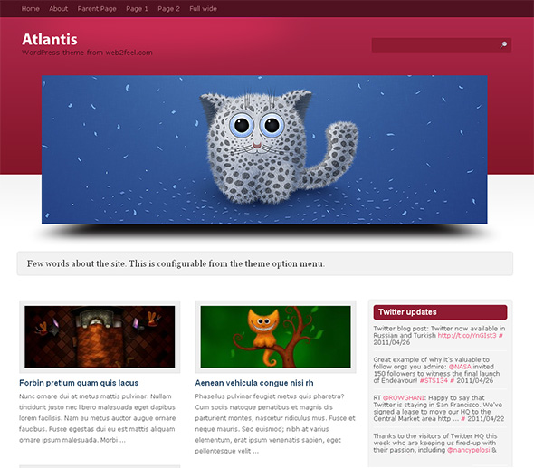 Atlantis Elegant WordPress Theme