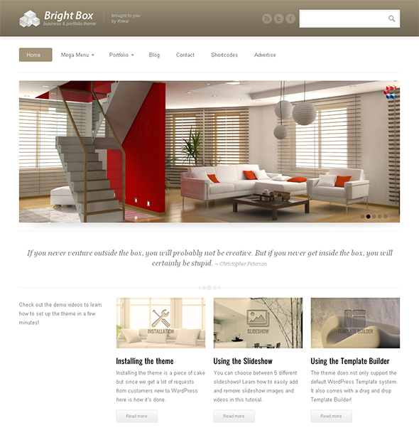 BrightBox Professional WordPress Theme