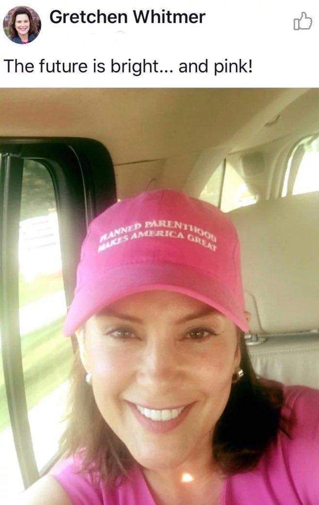 Image result for gretchen whitmer planned parenthood hat