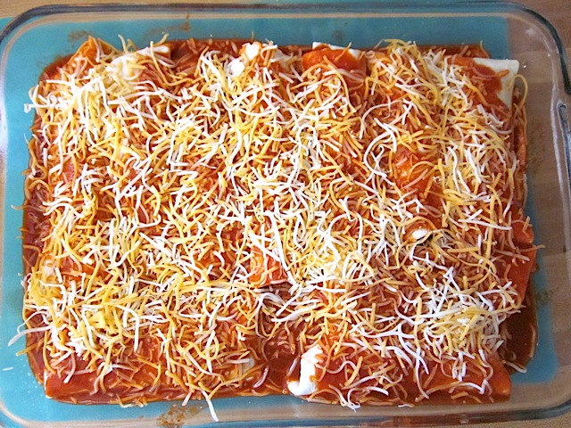 enchiladas ready to bake