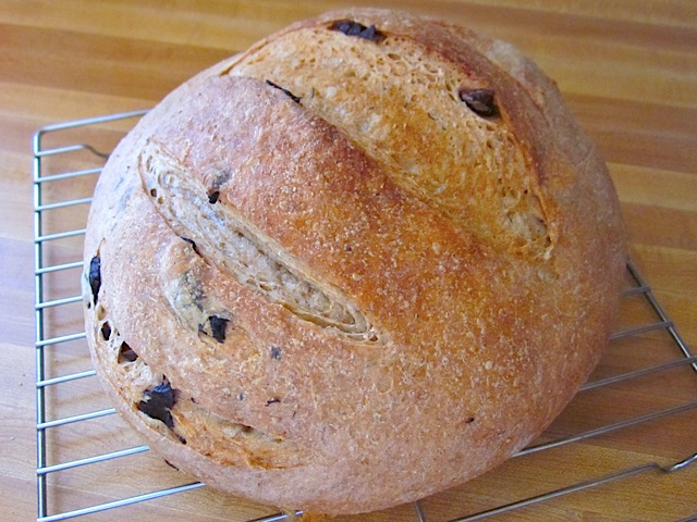 baked olive herb bread