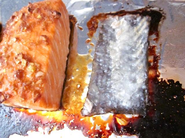 stuck salmon skin