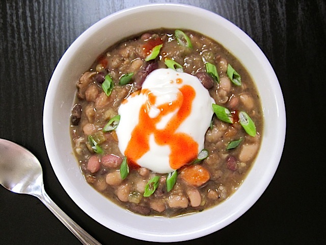 Slow Cooker Ham and Bean Soup - BudgetBytes.com