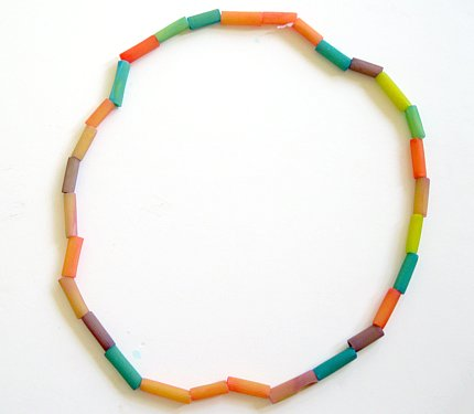 Dyed Macaroni Necklace
