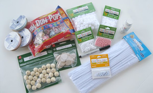 Supplies for Easter Bunny Suckers