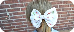 Thumbnail image for Tutorial ~ Hair Bow From Vintage Handkerchief