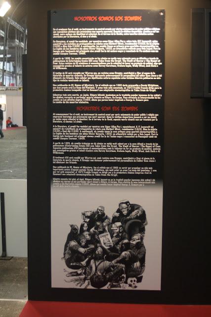 Uno de los plafones de la exposición