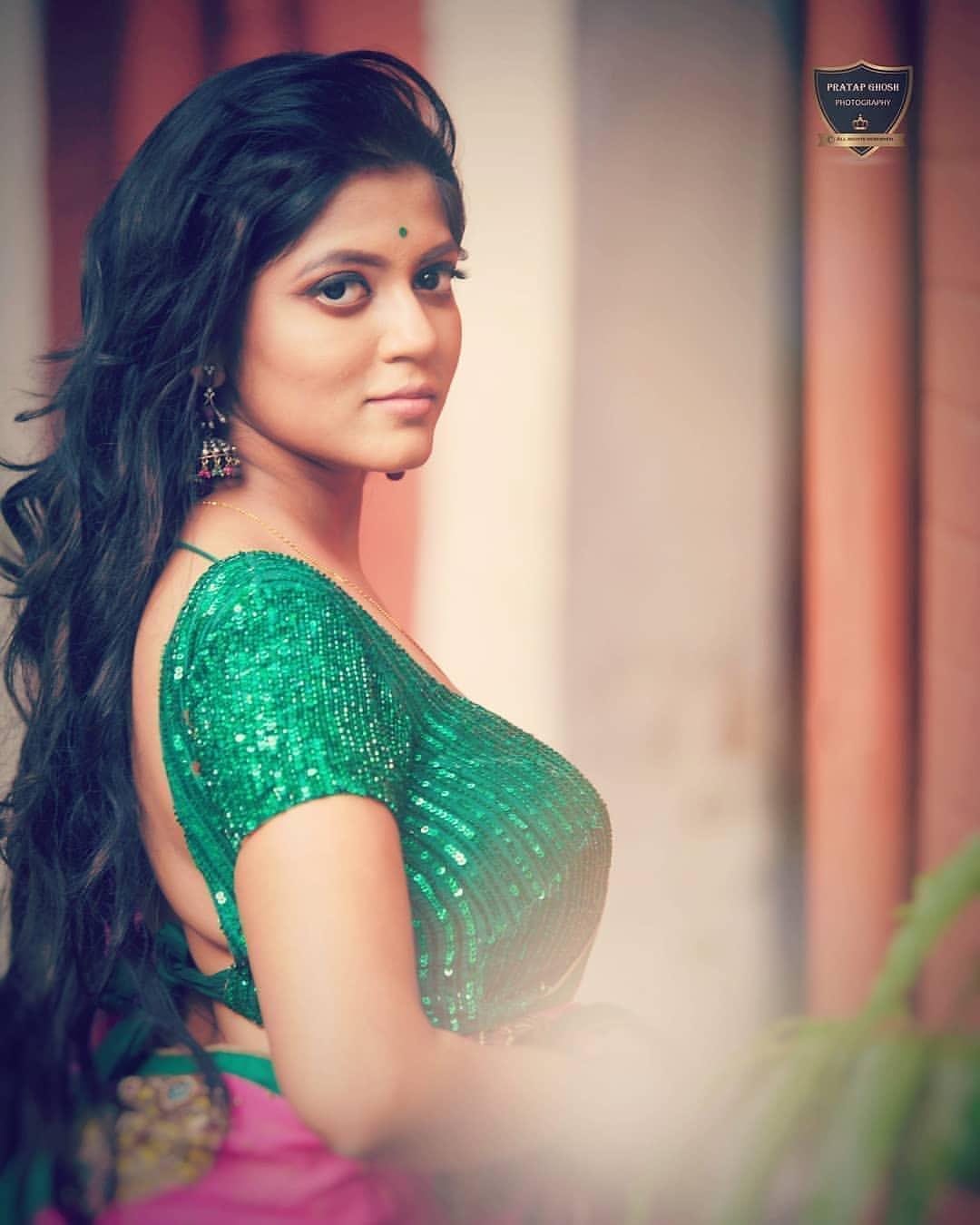 Triyaa Das images | Bengali Saree model, Actresses exclusive photoshoot gallery. Navel Queens