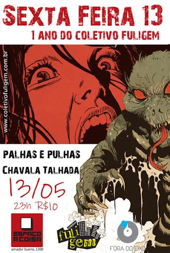 Cartaz do Aniversário de 1 ano do Coletivo Fuligem