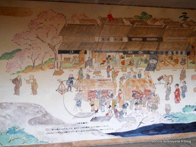 Fresque près du musée Edo-Tokyo