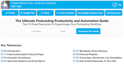 podcast marketing timestamps for a podcast