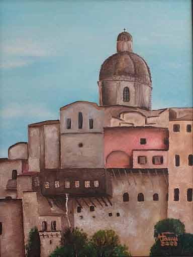 Cattedrale di Cagliari - olio su tela