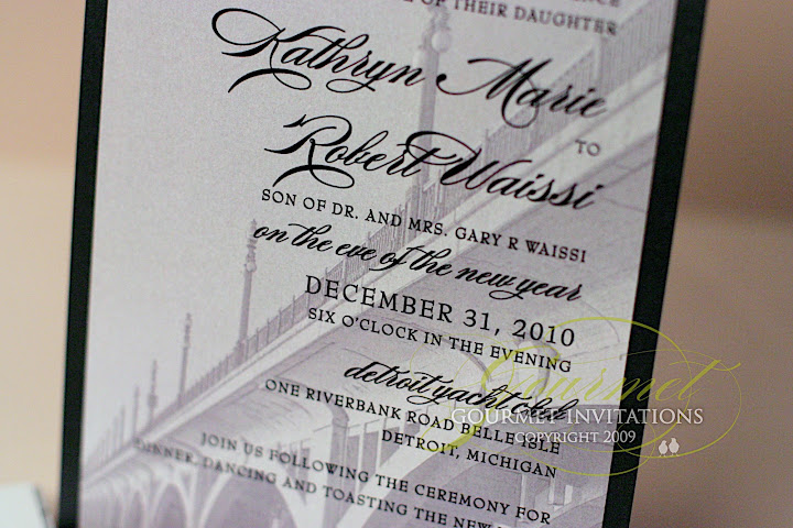 Detroit wedding invitations