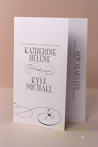 wedding programs, ceremony order, new year's eve wedding programs