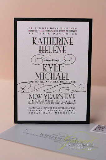 new year's eve wedding invitations, new years eve wedding invitation, invitation different fonts, black and white invitation, modern invitations, vintage invitations