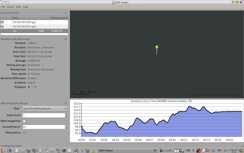 gpx viewer analyzer ubuntu