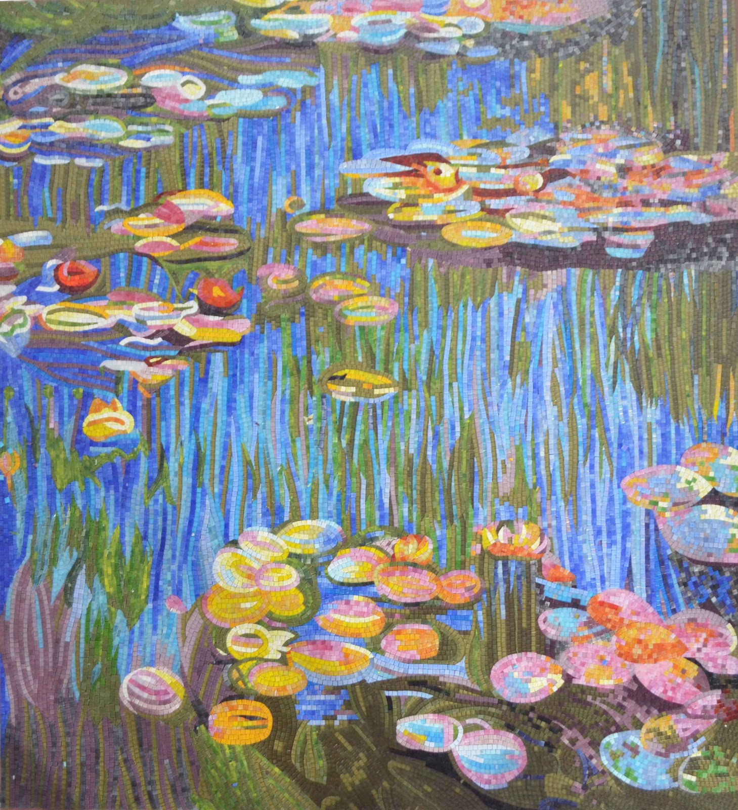"""""""Water Lilies"""" by Monet Mosaic Reproduction"""