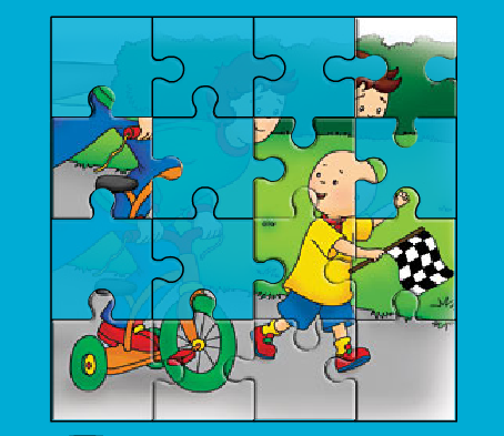 Sprout The Caillou Puzzle Game