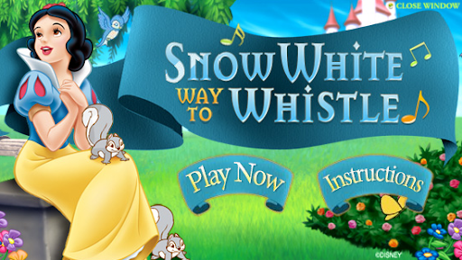 Disney Snow White Way to Whistle Game