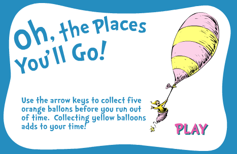 Seussville Dr. Seuss Oh, The Places You'll Go! Game