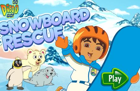 Nick Jr. Game Go Diego Go Snowboard Rescue Game