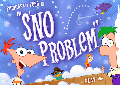 Disney Phineas and Ferb Sno Problem Game