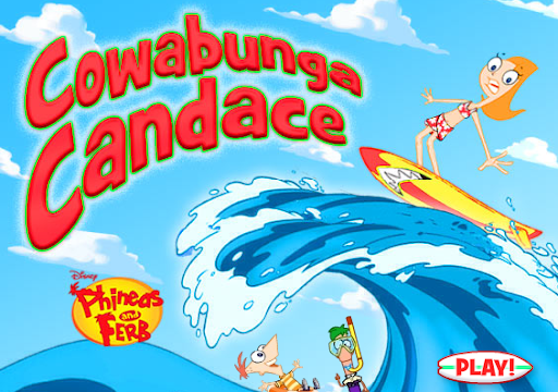 Disney Phineas and Ferb Cowabunga Candace Game