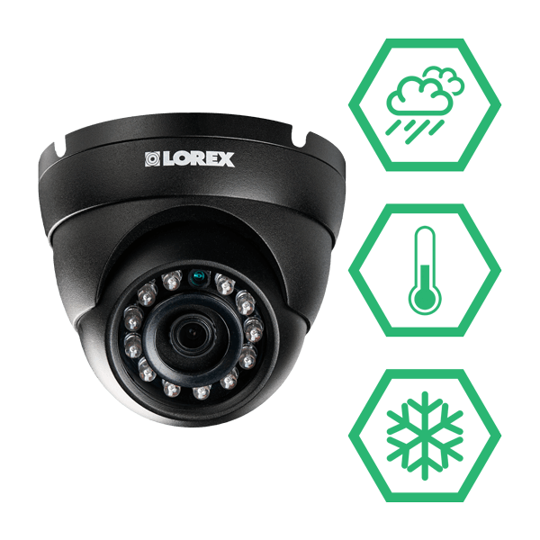 weatherproof & vandal resistant security cameras that can take care of themselves