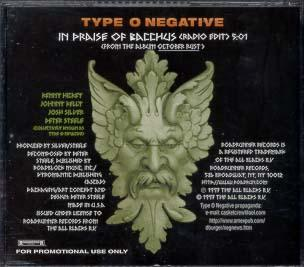 Type O Negative - 1996 - In Praise Of Bacchus