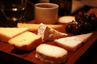 Cheese plate at Dinner by Heston Blumenthal London restaurant