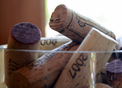 Wine corks at the Aquitania winery in Santiago Chile