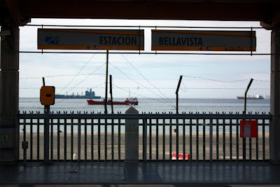 Train station for the metro from Valparaiso to Vina del Mar Chile