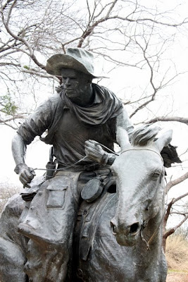 Dallas sculpture of a cowboy