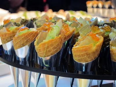 Food at an ITB Berlin Travel Trade Show party in Germany