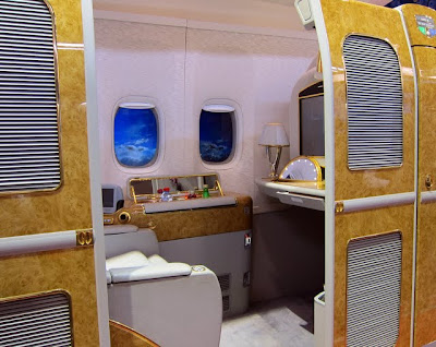 Emirates First class suite at ITB Berlin in Germany