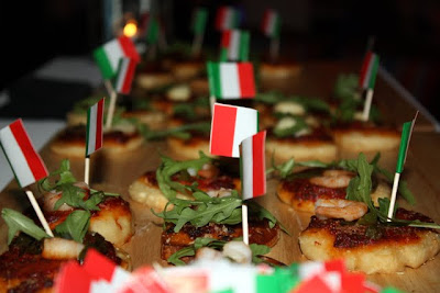 Canapes at the easyJet Holidays launch party in London
