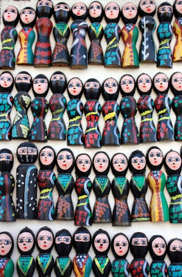 Magnets in a souvenir shop in Jordan