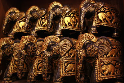 Elephant souvenirs at a shop in Jordan