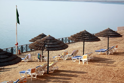Beach on the Dead Sea in Jordan