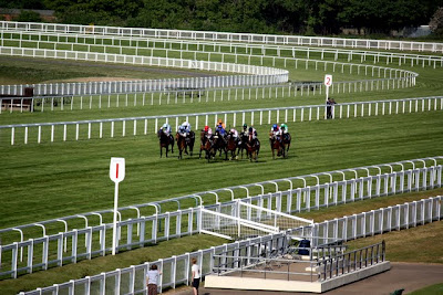 Horse race at Ascot Racecourse in England