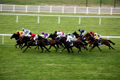 Racing at Ascot Racecourse in the UK