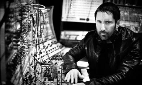 Trent Reznor in his music studio.