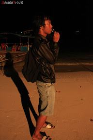 me on the beach at night