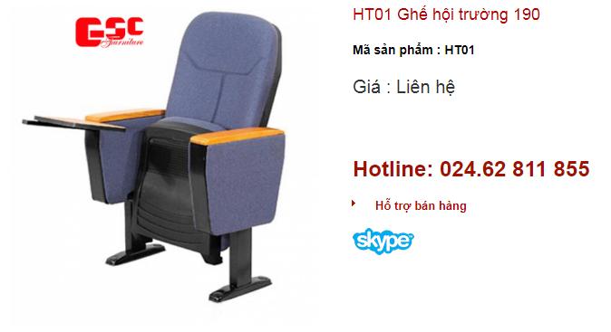 Ghế hội trường 190 mã số HT01