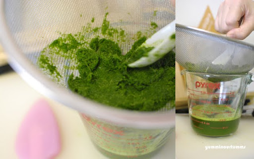 Pandan-juice leaves green