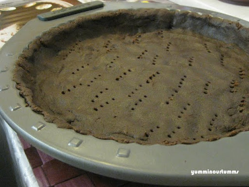 chocolate shortcrust pastry pressed in pan