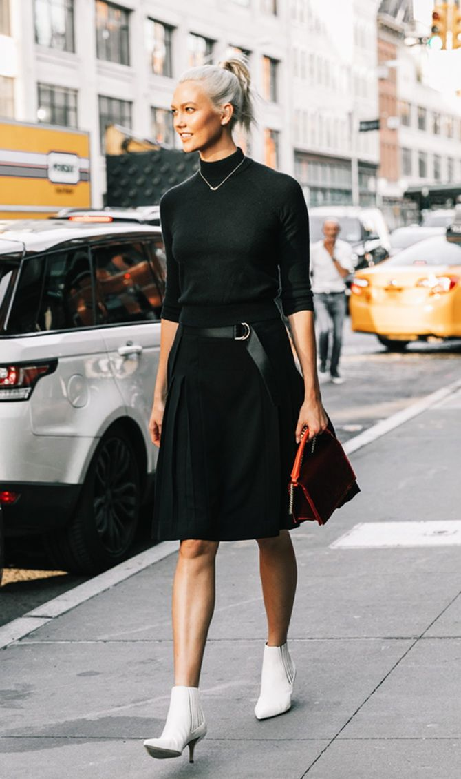 trendy looks, black and white combinations 5