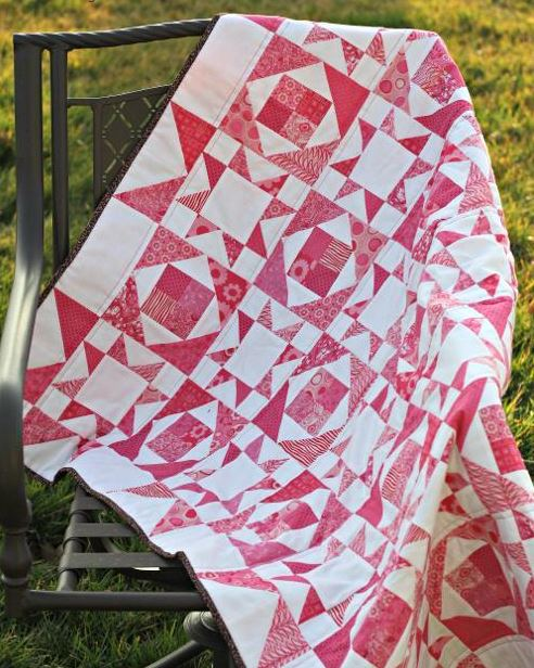 Pretty in Pink Monochromatic Quilt Pattern - Craftsy.com