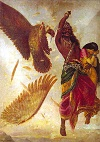Ravana mauls Jatayu